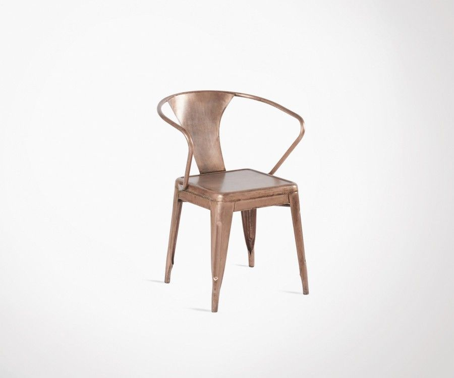 Chaise métal cuivré style années 30 POMARDO