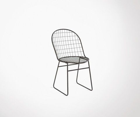 Black wire metal chair MISSOURI