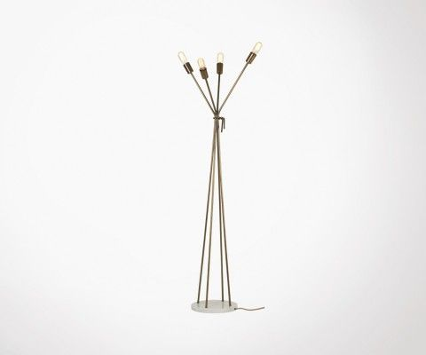 Lampadaire 4 lampes design industriel 165cm ALMEX