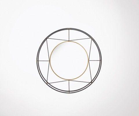 Round mirror art deco style 82cm BAMA