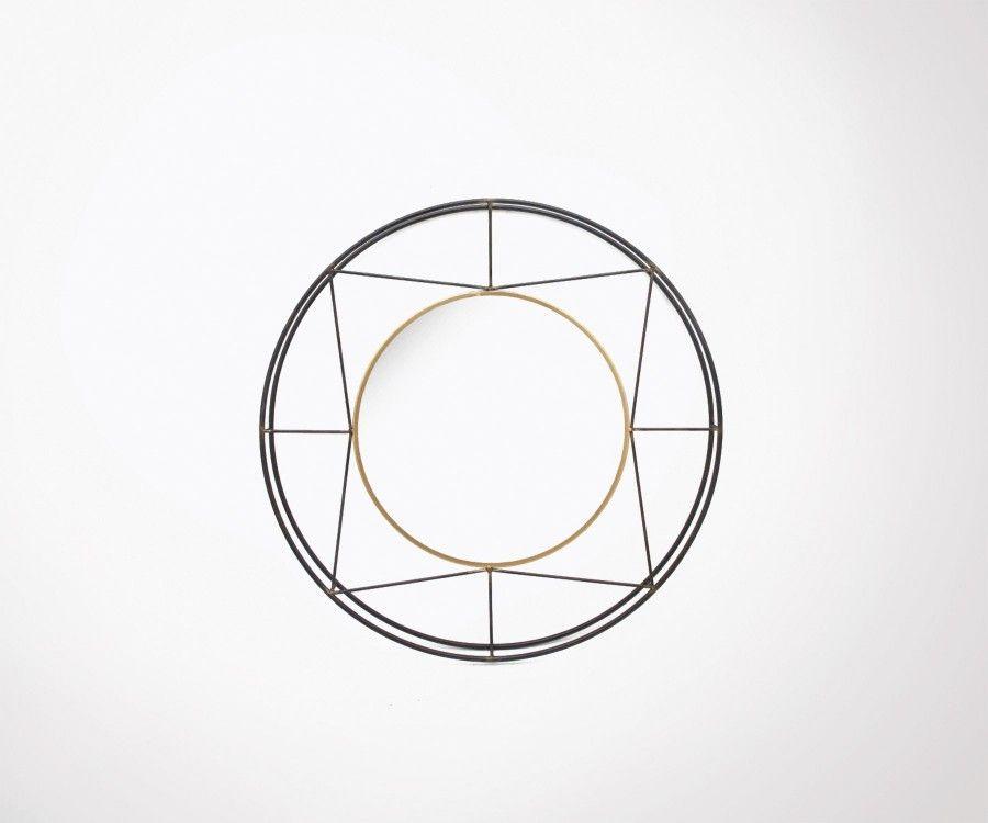 Miroir rond style art déco 82cm BAMA