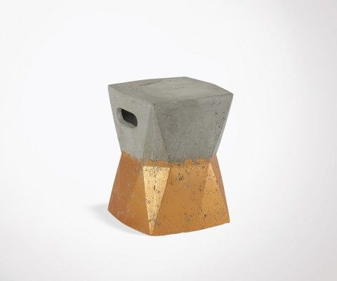 Stool 41cm copper concrete ARVY