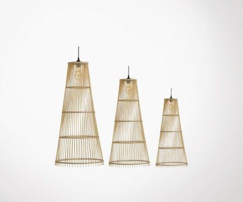 Trio suspensions coniques design bois CAPITO