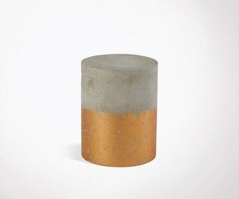 Tabouret rond béton cuivre NITRY