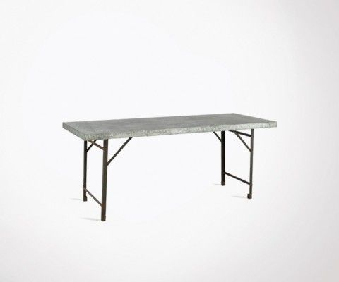 Grande table manger red cartel bois et m tal 120 cm for Table a manger pliable