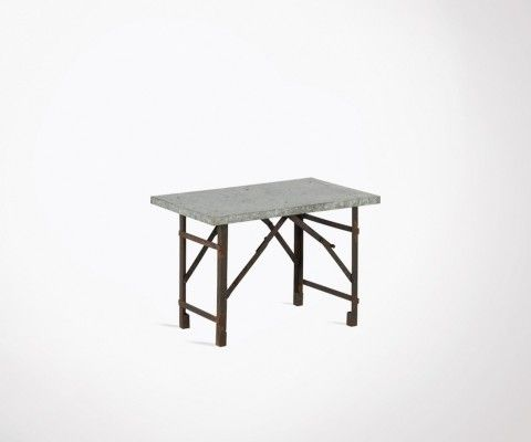 Foldable industrial coffee table iron 65cm KAR