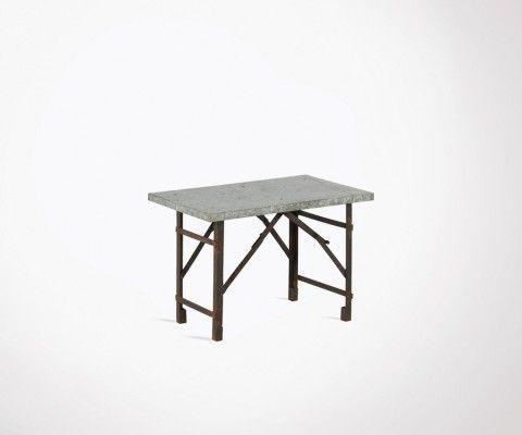 Foldable industrial coffee table iron 65cm KAR
