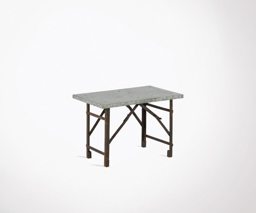 Table basse industrielle pliable fer 65cm KAR