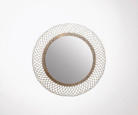 Grand miroir rond métallique NITIA