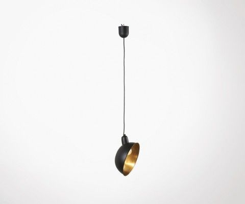 GARMEL Black Metal Shade Hanging Lamp