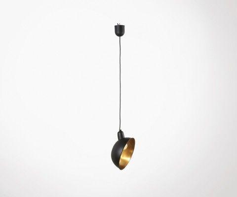 Suspension abat-jour orienté métal noir GARMEL