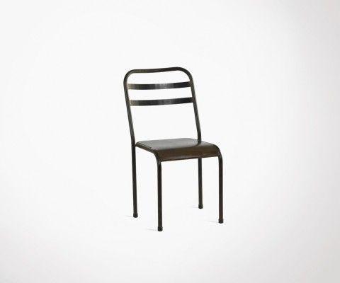 Chaise métallique style café RANDY