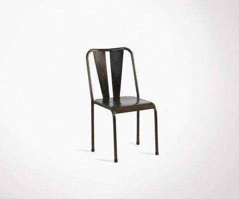 Chaise métallique style café TULERAN
