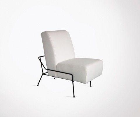 Fauteuil salon design tapissé rembourré SIRANO