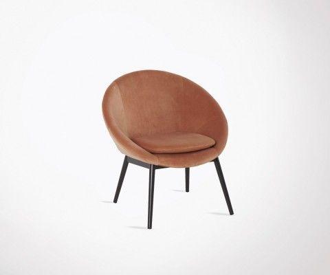 Designer armchair rounded back RUBANA
