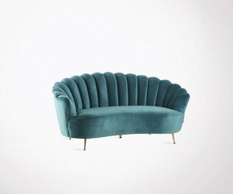 Sofa corolle velvet fabric 181cm ZABETH