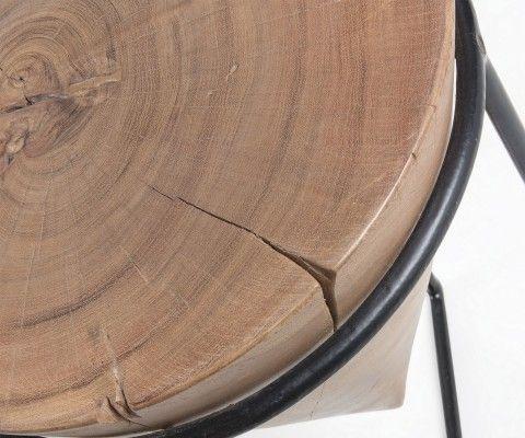Table d'appoint métal bois acacia RARAW