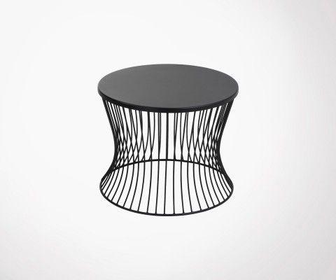 Table d'appoint 49cm design métal noir MARMIT