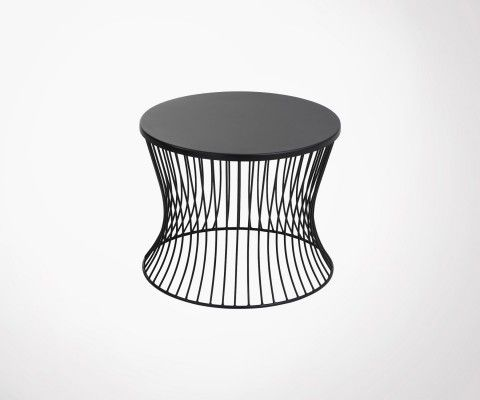 Table d'appoint 49cm design métal noir MARMIT