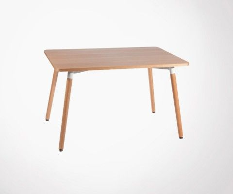 Table à manger 160cm plateau bois BASIC