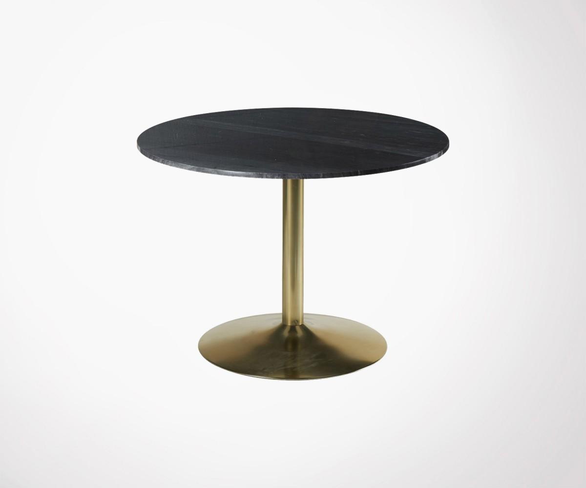 table manger marbre noir 100cm 10pers marque hanjel. Black Bedroom Furniture Sets. Home Design Ideas