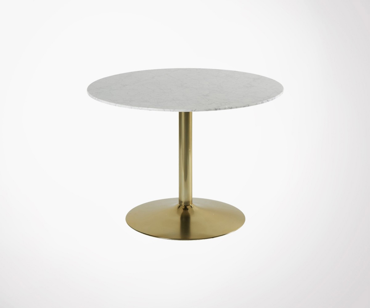 table manger marbre 100cm style r tro vintage inspir e. Black Bedroom Furniture Sets. Home Design Ideas