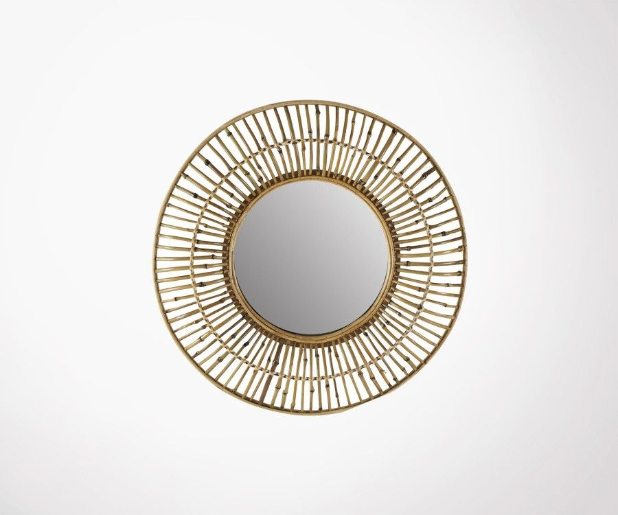 Miroir design bambou 80cm style ethnique BREND