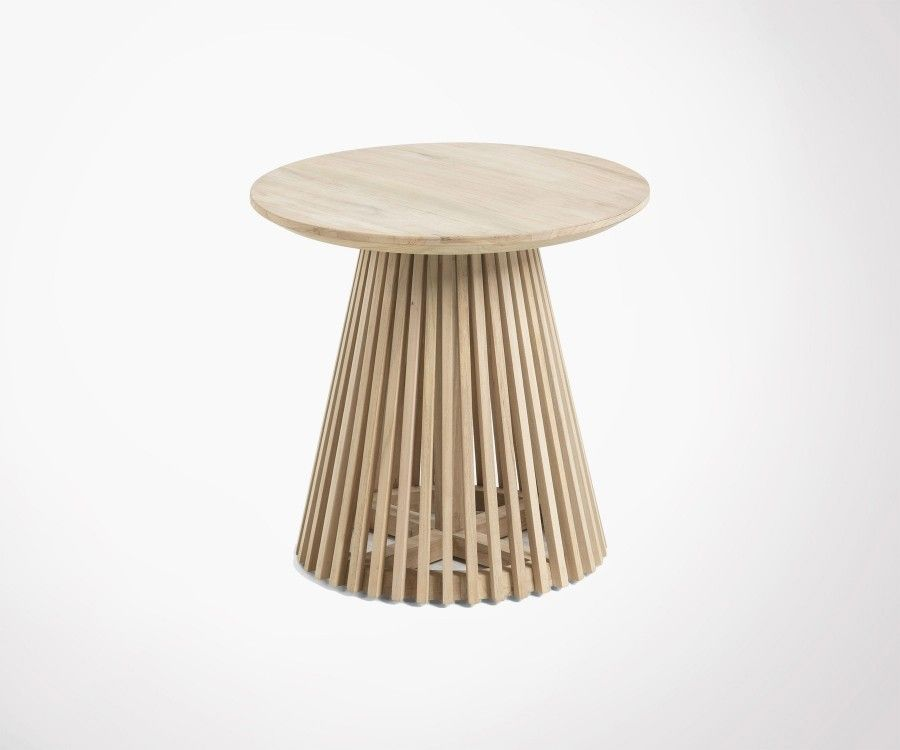 Table d'appoint teck 50cm JEANETTE