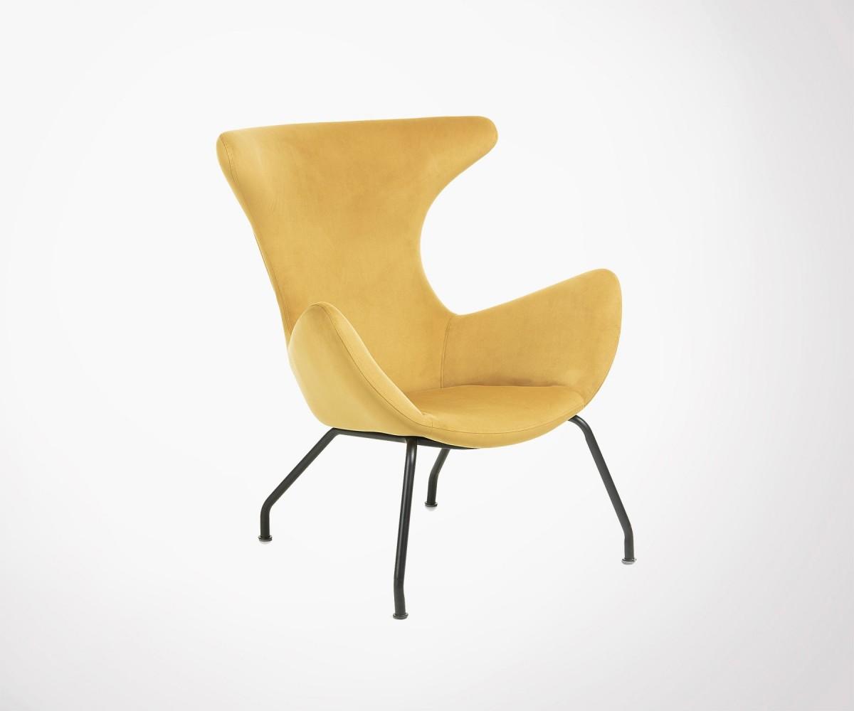 Fauteuil design velours moderne 2 couleurs livraison europe - Fauteuils salon design ...
