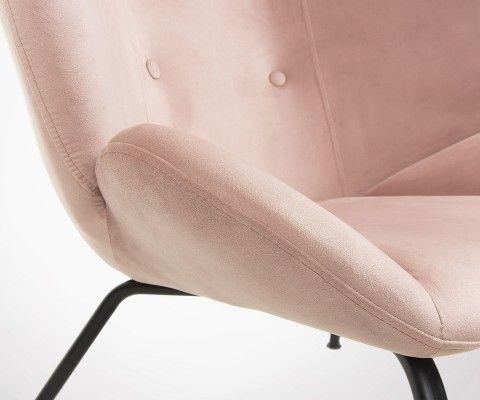 Fauteuil design velours haut dossier COFLY