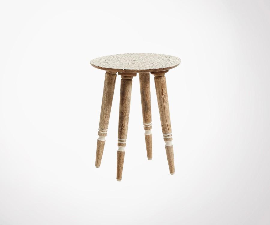 Petite table d'appoint manguier style bohème KOUH