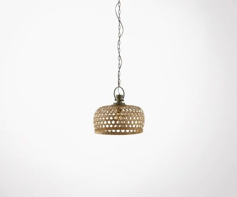Lampe suspendue osier style campagne bohème CAYANE