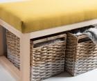 Banquette design 128cm bois et tissu YALO