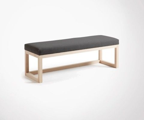 Design bench 128cm wood and fabric YALO