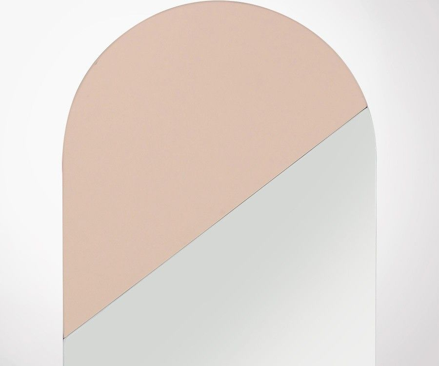Miroir vertical rose poudré 106cm OVAL - HK Living