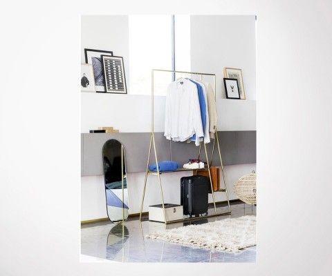 Miroir vertical rose poudré 106cm OVAL - HK Living