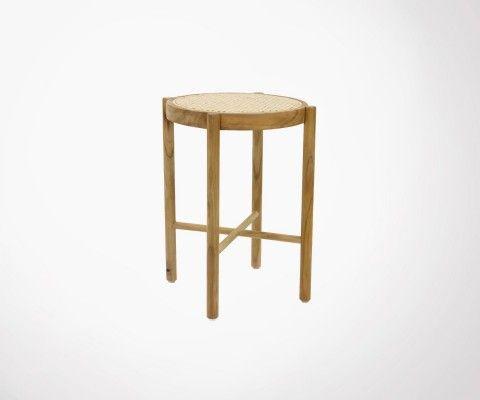 50cm stool vintage style natural cane GUB - HK Living