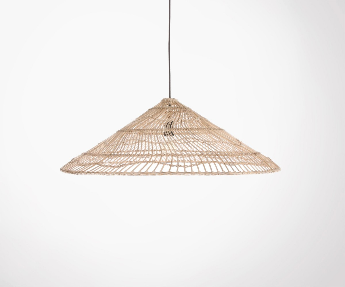 Abat-jour suspension HK Living 80cm osier rotin naturel