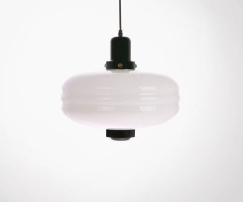 Retro design white glass pendant lamp 24cm WYTY - HK Living