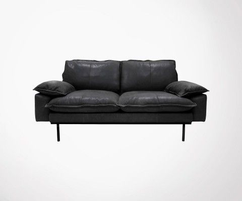 2 seater leather sofa AFFAL - HK Living
