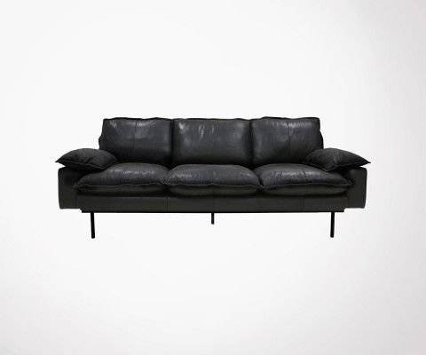 3 seater leather sofa AFFAL - HK Living