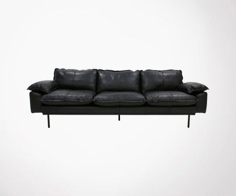 4 seater leather sofa AFFAL - HK Living
