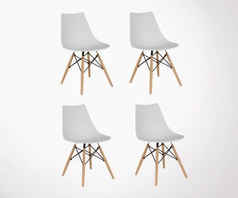 Lot 4 Chaises style DSW-DIVA - Couleurs au choix