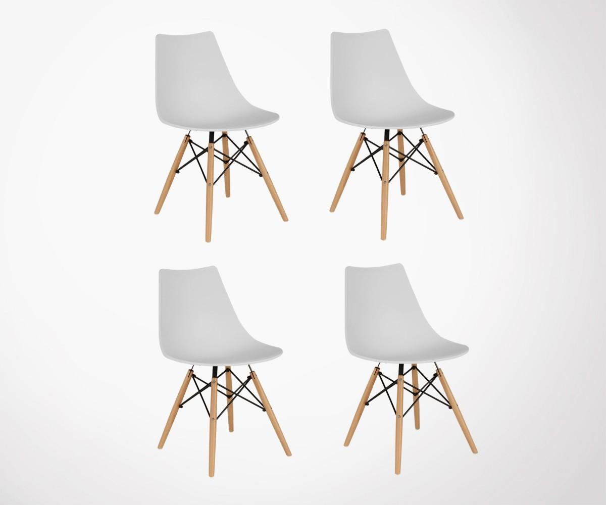 chaise design inspir e dsw lot de 4 plusieurs couleurs. Black Bedroom Furniture Sets. Home Design Ideas