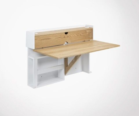 Wall desk CATHY ash wood 100cm