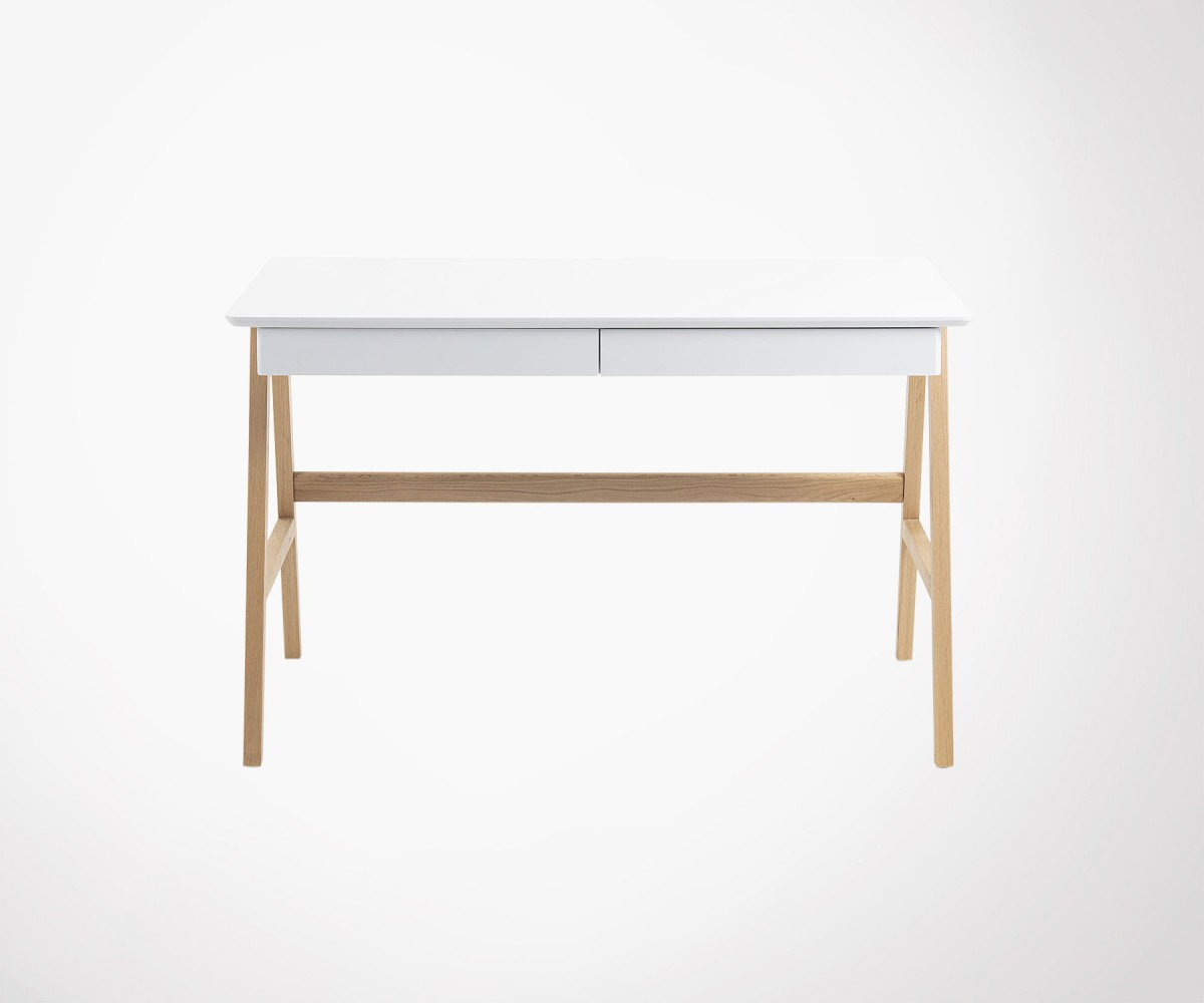 Bureau moderne cm bois chêne blanc naturel dyana didilz