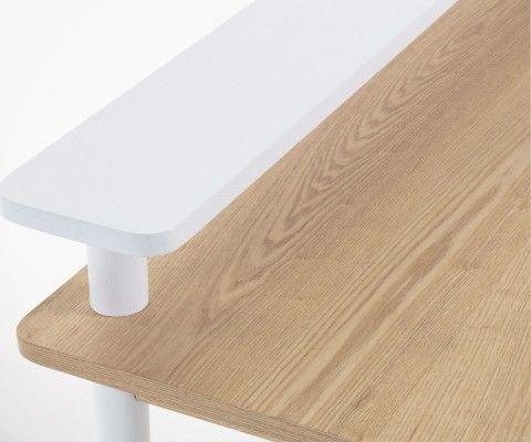 Bureau design bois de frêne 120cm JESS