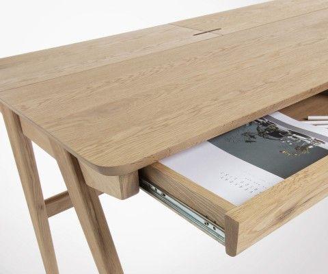 Bureau design 120cm bois de frêne JINNA