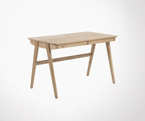 Design desk 120cm ash wood JINNA