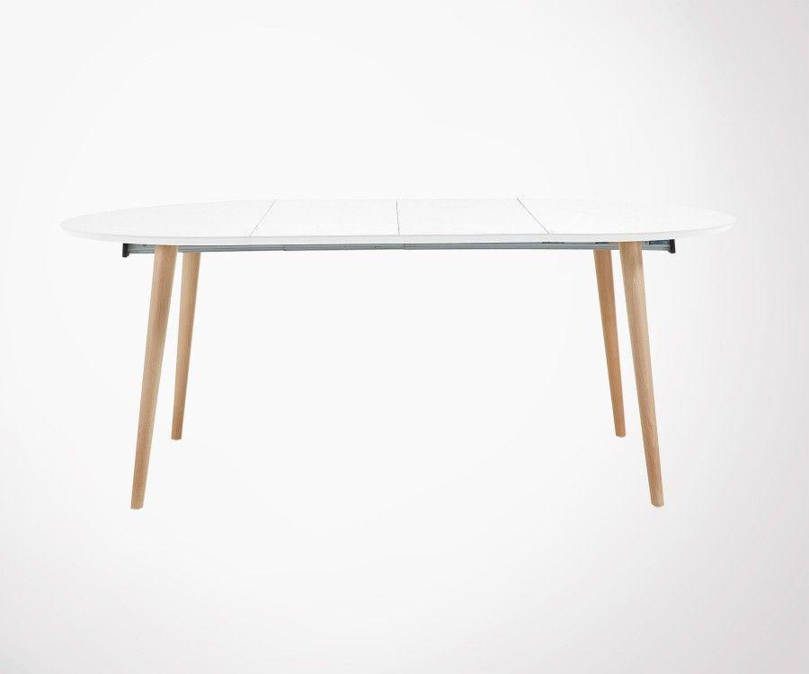 Table ronde design extensible 120-200cm bois KIOKY